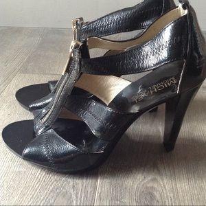 Michael Kors Black Heels With Zipper.